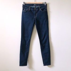 7 for All Mankind Dark Blue The Skinny Jeans 26